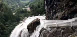 Dangerous Waterfall Road NEPAL