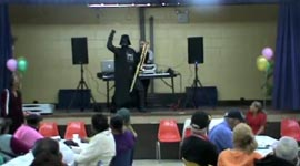 Darth Vader Salsa Trombone Playing and Dancing