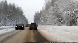 LKW, Schnee, Eis, Glück