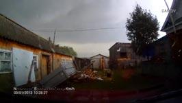 Dashcam filmt Tornado