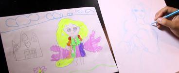 Tochter designt, der Vater malt