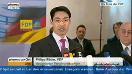 Philipp Rösler, Bundesfurzende, FDP, Vizekanzler