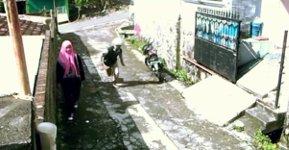 Dieb Tasche Moped