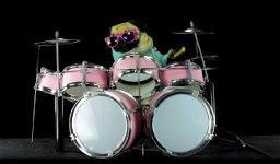 Mops Schlagzeug Drums Metallica Sandman