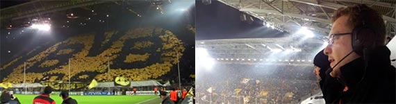 Borussia Dortmund - FC Malaga 32 - BVB Radio, Kommentator rastet aus - Felipe Santana