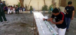 Dosen Ei zerschlagen Weltrekord