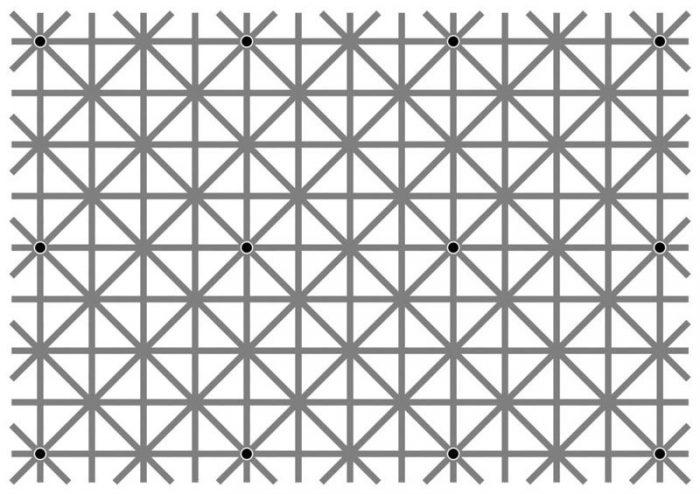 Punkte optische Täuschung