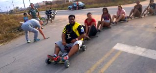 Downhill Roller-carting Brasilien