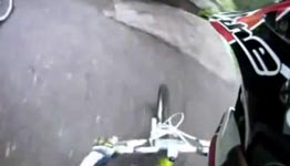 Insane Pass In Downhill BMX Race