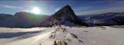 Drohe Berge Überflug