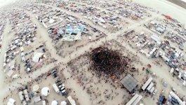 Drohne GoPro Burning Man Tanzfläche