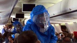 Ebola Alarm Flugzeug