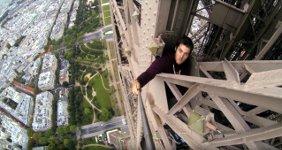 Illegal Eiffelturm klettern
