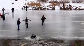 See, Eis, einbrechen