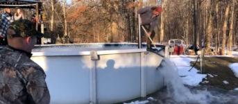 Eis Pool surfen