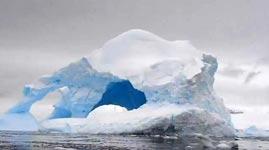 eisberg schmilzt, exploiert, verschwindet