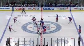 Eishockey Kampf, Prügelei, Devils vs Rangers