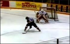 unglaubliches Eishockey Tor