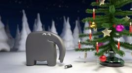 Elefant, Weihnachten