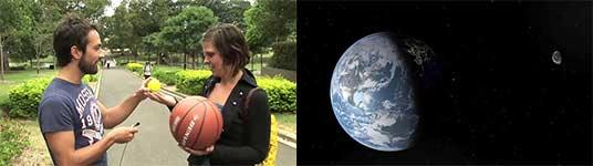 Entfernung Erde - Mond