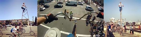 Riesenfahrrad auf der CicLAvia 2013