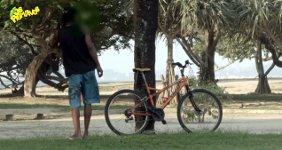 Fahrraddieb Verarschung