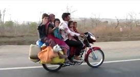 Familienausflug, Indien, Motorrad