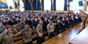 Verabschiedung Lehrer Māori Haka