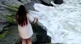 Felsen Meer rutschig