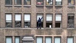 Fensterputzer ohne Sicherung