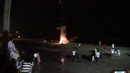 feuerwerk, strand, explosion