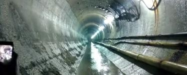 Sprenung Tunnel Schockwellen