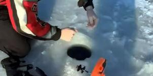 Eis fischen angeln