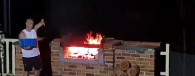 Grill Flammen Verpuffung