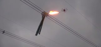 Drohne Flammenwerfer Feuer