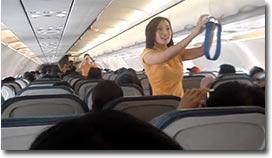 Sicherheitshinweise, Flugzeug, Lady Gaga, tanzen