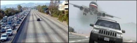 Auto, Flugzeug, Landebahn, Oma, Video, lustig