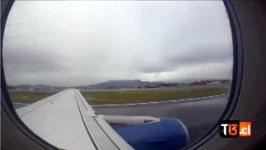 Flugzeug Fenster Turbine defekt
