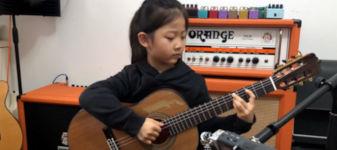 Mädchen Gitarre