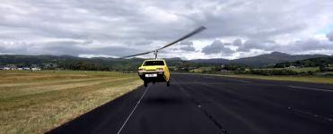 fliegendes 3-Rad-Auto