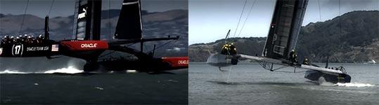 Fliegende Hightec-Boote, Hydrofoils
