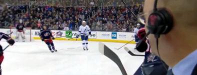 eishockey puck knapp