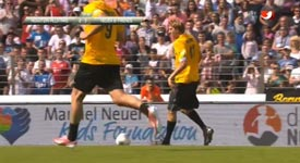 Brutales Foul an Dirk Nowitzki