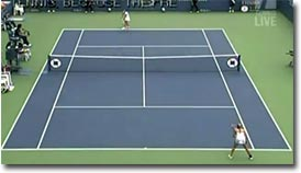 Francesca Schiavone, durch die Beine, Tennis