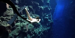 Freediving in Iceland
