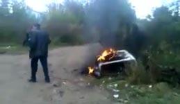 furzen, feuer, auto, explosion