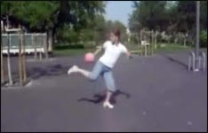 fussball, mädchen, girl, ball hochhalten