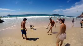 Fußball Strand Hund