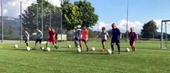 Fußballübung Neymar
