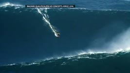Garrett McNamara Surf Biggest Ever Nazare North Canyon Wave